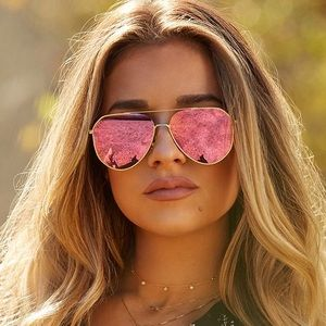 Diff Sunglasses, Jessie James Decker Pink Aviators